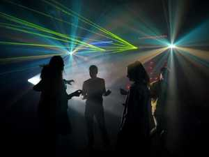 Dancing, disco, music in the Hub. Sunshine Coast Newspaper Company building. Photo:Warren Lynam / Sunshine Coast Daily