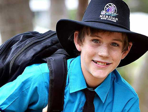Liam Heidrich, 11, is all set for Year 7 at high school.