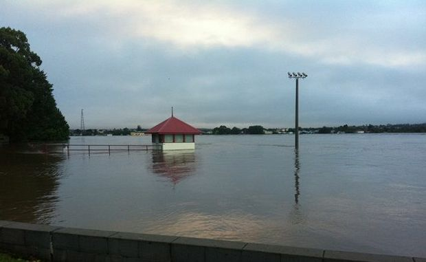 The Grafton Rowing Club this morning