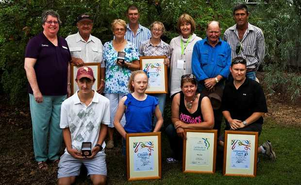 Councillor Wendy Newman with all the Surat Australia Day recipients.