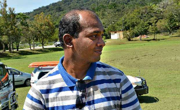 Mackay doctor Kalum Somaratna, who was lost overnight on Mt Dalrymple, was relieved to be back at Eungella yesterday morning.