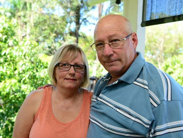 Carol Crear reunited with husband Steve after his miraculous survival after a boat sank off Port Alma.
