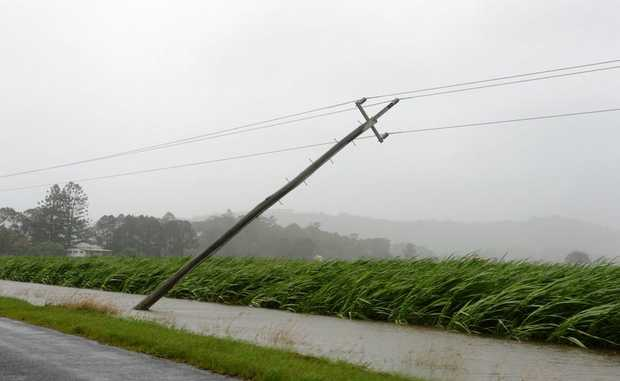 Power lines down in Murwillumbah.
