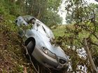 Man survives freak flood accident after car slips into creek
