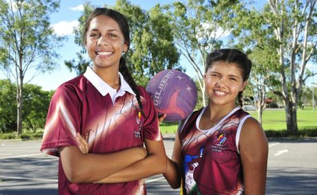 Talisha Thompson and Tevin Smith represented the South Queensland team at the national indigenous netball carnival.