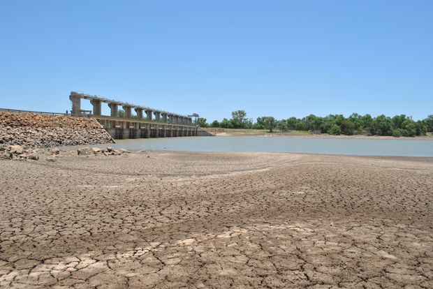 FILLING FAST: Despite languishing at only 13% capacity last week, E.J. Beardmore Dam at St George is expected to be full by Sunday. – Lyndon Keane