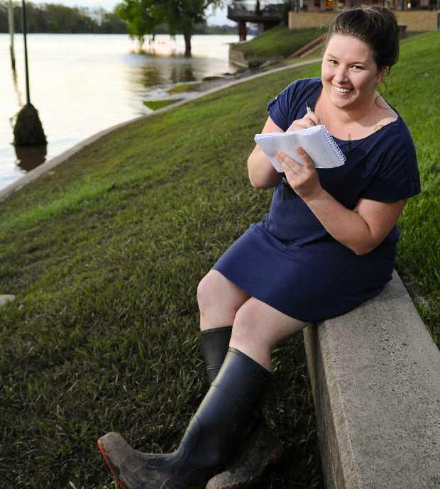 MAKING A SPLASH: Daily Examiner's deputy editor Shannon Newley.