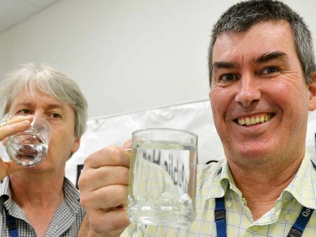 FOR FLUORIDE: North Queensland Public Health specialist Dr Steven Donohue and director of Brisbane Dental Hospital Michael Foley believe fluoridation of water is vital.