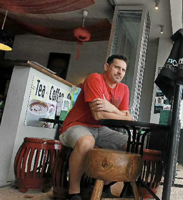 Peregian cafe owner Kirk Edington is upset at the rates