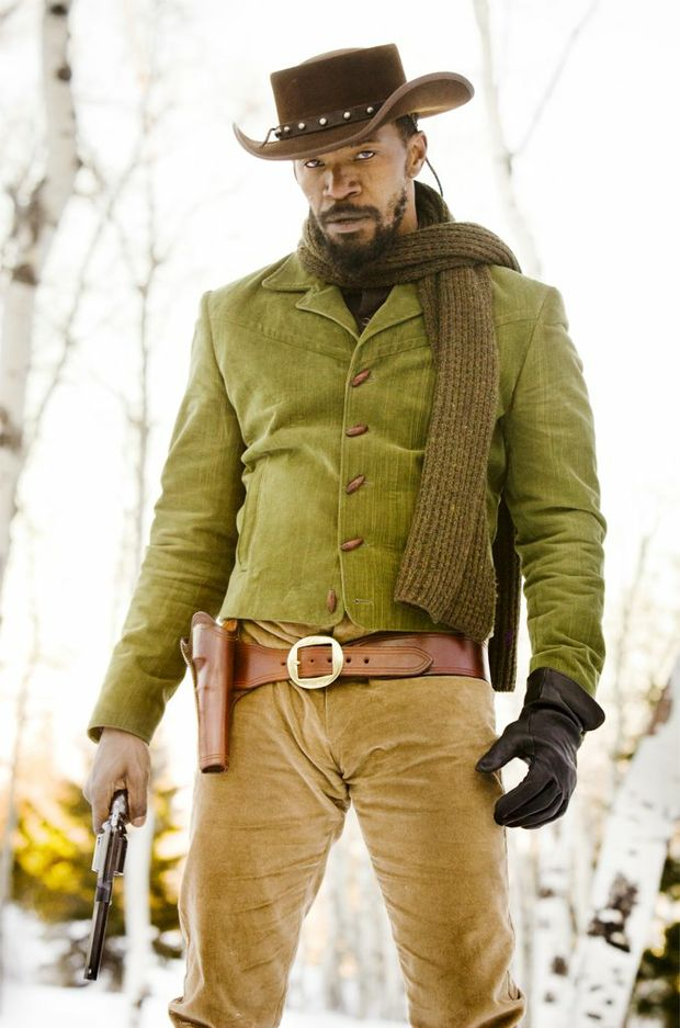 FOR REVIEW AND PREVIEW PURPOSES ONLY. Jamie Foxx in a scene from the movie Django Unchained. Supplied by Sony Pictures Australia. Please credit photo to Andrew Cooper.