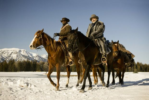 FOR REVIEW AND PREVIEW PURPOSES ONLY. Jamie Foxx, left, and Christoph Waltz star in a scene from the movie Django Unchained. Supplied by Sony Pictures Australia. Please credit photo to Andrew Cooper.