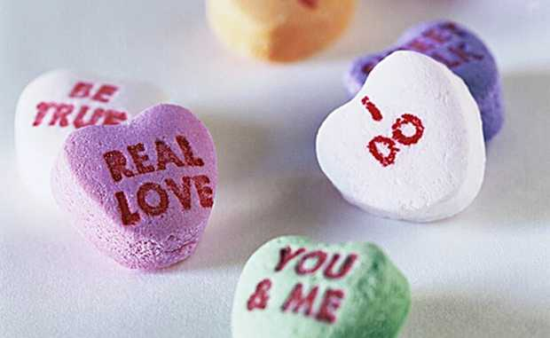 Heart-shaped candies Photo: Agency