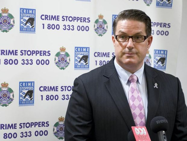 Regional crime coordinator detective inspector Darrin Shadlow addresses the media in relation to the homicide investigation after a 32-year-old Toowoomba man died from a stab wound.