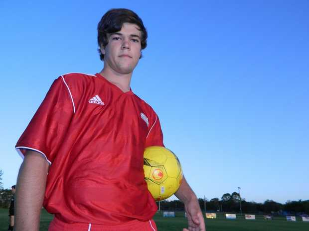 Wide Bay Revolution U18 midfielder Thomas Evans is eager to get on the field for the club's debut against Caloundra FC in a pre-season trial.