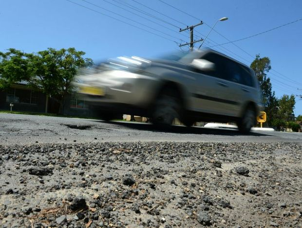 Potholes on Kennedy Dr, Tweed Heads West.