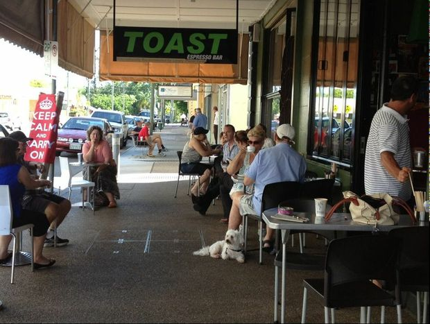 It's business as usual for the many shops in Maryborough's central business district that were not affected by the flooding.