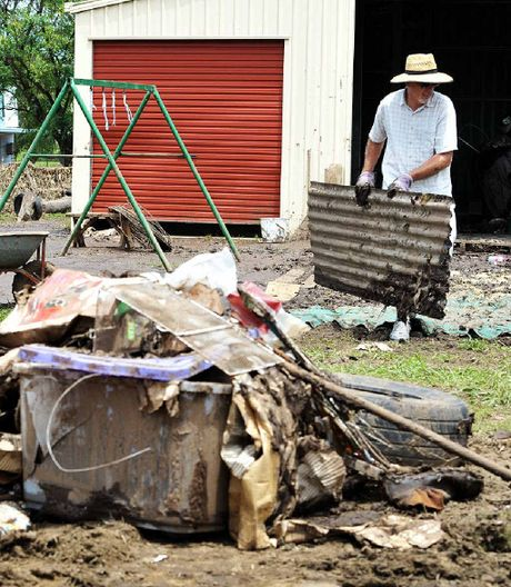 MUDDY HELL: The post-flood clean-up in Laidley.