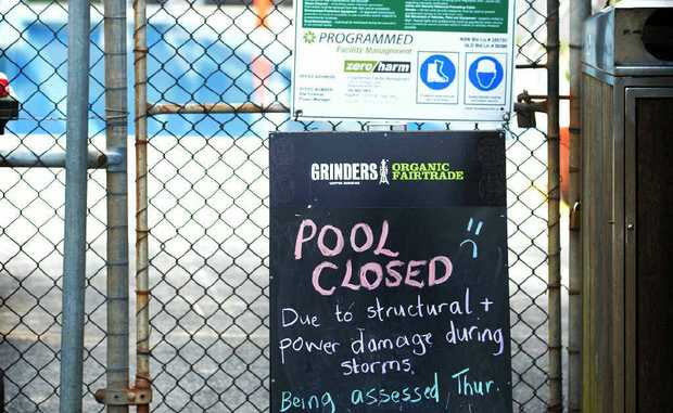 WIPE OUT: The Byron Bay pool has been closed due to storm damage.
