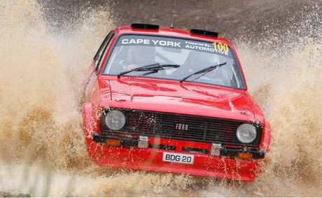 Ross Dunkerton shows his style in rally driving.