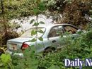Car pushed off road into river