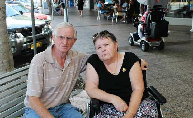 INQUIRY WELCOMED: Lesley and Charles Nicholson, of West Ballina, have welcomed a NSW Staysafe road safety committee inquiry into motorised scooters. Lesley suffered multiple injuries after being hit by a scooter in 2012.