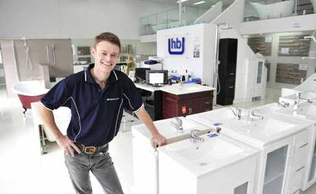 HERE TO HELP: Highgrove Bathrooms manager Tim Spray in the store in North Ipswich.
