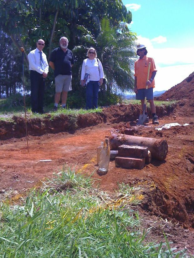UNCOVERED: Byron Council officials and OSCA members at the Roundhouse well site. Photo Contributed