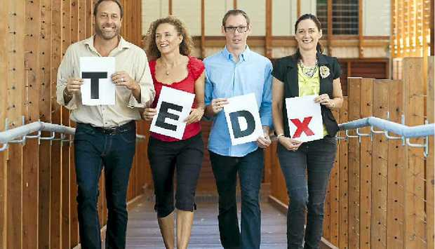 IDEAS WORTH SPREADING: (From left) Adam Blake, Vivianne Barry, Brian Keayes, Nina Shadforth, part of the organising team of TEDx Noosa.