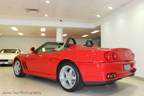 The 2001 Ferrari 550 Barchetta.