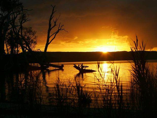 The sun sets at Elanda Point in the Noosa hinterland. Photo: Brett Wortman