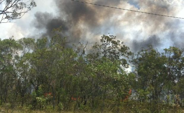 A fire burning near the airstrip at Pacific Haven is being fought by multiple urban and rural fire crews.