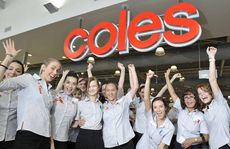 WELCOME: Happy staff at the grand opening of the brand new Coles CBD store.