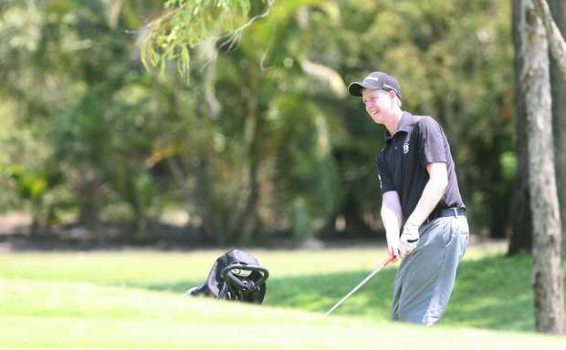 Rowan Coombes from Rockhampton at the Junior Classic golf tournament at Capricorn Coast. Photo: Chris Ison / The Morning Bulletin.