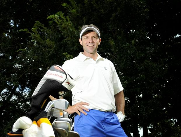 Andrew Tschudin preparing to defend his Queensland PGA Championship title at City Golf Club next week.
