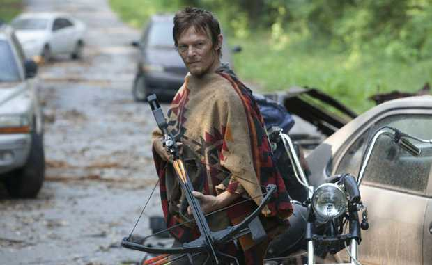 Norman Reedus in a scene from the TV series The Walking Dead.