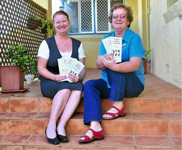 Manager Sandy Prizeman (left) and Brenda Beauchamp from the Gladstone Women's Health Centre are running the Women Growing Stronger Personal Development program.