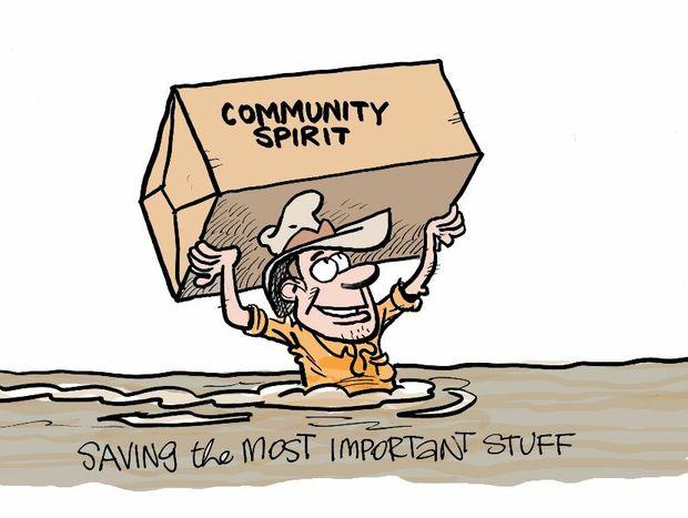 Harry Bruce cartoon for Supermum column on February 7