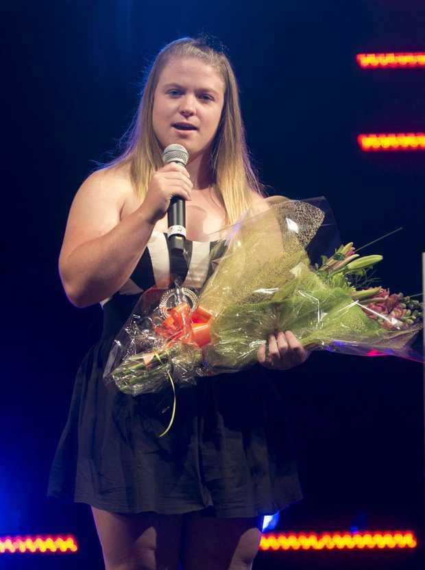 SENIOR STAR: Bianca Sheppard accepts the Senior Sport Star of the Year award.