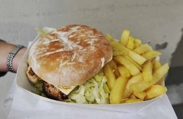 HEARTY FOOD: Meal for under ten dollars at Beloporto in Byron Bay.