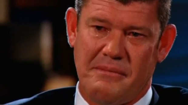 James Packer gives an emotional interview on the Seven network.