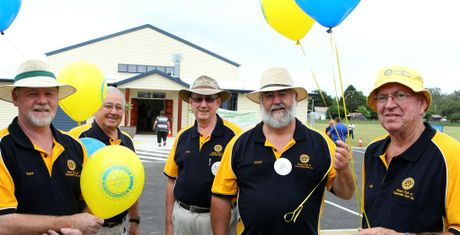 Peter Nalder, Graham King, Roy Frost, Jeffery Martin and Alan Dorr at the Murphy's Creek Community Centre opening.