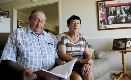 Robert and Elaine Dull are angry about the treatment they have received from the ANZ Bank