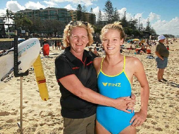 Liset Teis is proud of the amazing success of her rookie Mooloolaba ironwoman daughter, Maddy Dunn, 18.
