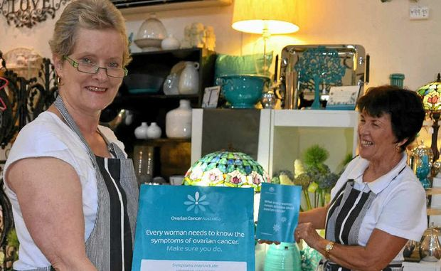 BREAKFAST FOR A CAUSE: Bryson's Place owner Lynn Bryson (left) and staff member Virginia Smith will hold a breakfast next Tuesday to support ovarian cancer research.