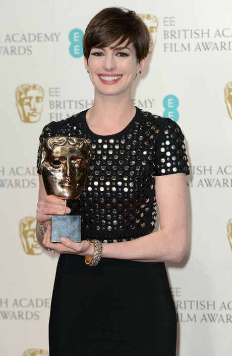 BAFTA Best Supporting Actress Anne Hathaway.