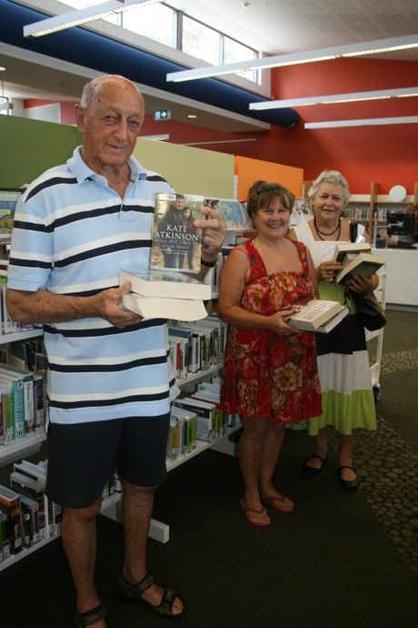 President of the Byron Bay Friends of the Library Bob Levett is joined by Margeaux Marshall and his wife Wendy Levett at the opening of the Byron Bay Library.