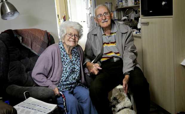Roy and Berwyn Hildred have been together for 65 years. Photo Dave Noonan / The Chronicle