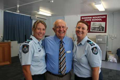 Senior Constable Veronica Brennan, Buderim Safe Committee president Don Culley and Senior Constable Sandy Atkinson Photo Emily Haynes / Buderim Chronicle