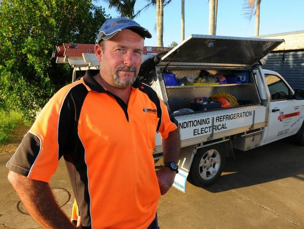 Chris Mullen is one of about 12 tradies who have had their tools stolen. Thieves seem to be taking advantage of the high number of tradies in the city.