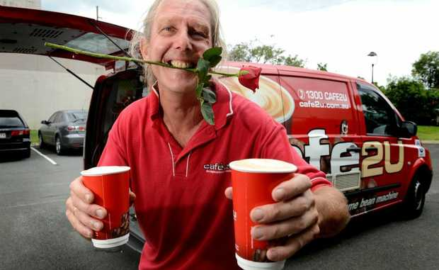 Peter McCormack of cafe2u is giving away one free coffee for Valentine's Day